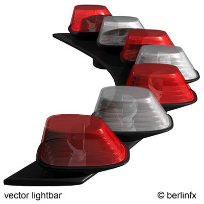 vector lightbar halogen light 3d model