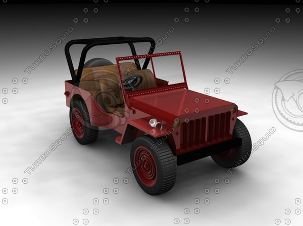 willys jeep 3d model