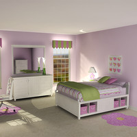 Girl's Bedroom 20 pc set