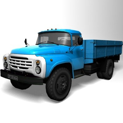 max zil-130-80 low-poly soviet