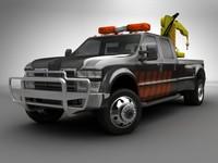 3d model mobile crane truck pickup