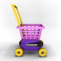 3d model shop cart