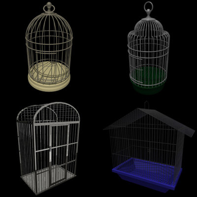 bird cages 3d model