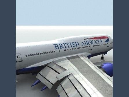 3dsmax b 747-400 brithish airways