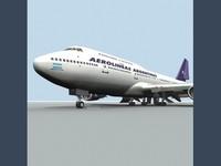 3d b 747-400 aerolineas argentinas model