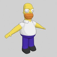 3ds max homer simpson