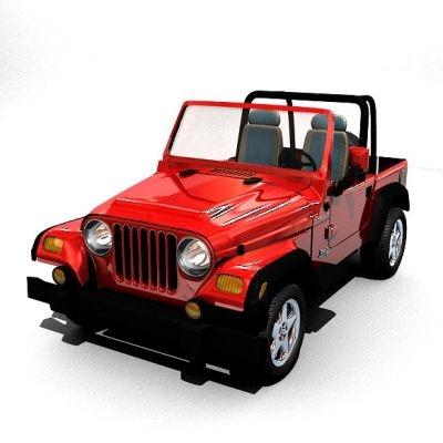 blender jeep car
