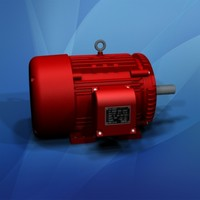 large electric motor 25 3d max