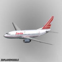 3d b737-600 lauda air model