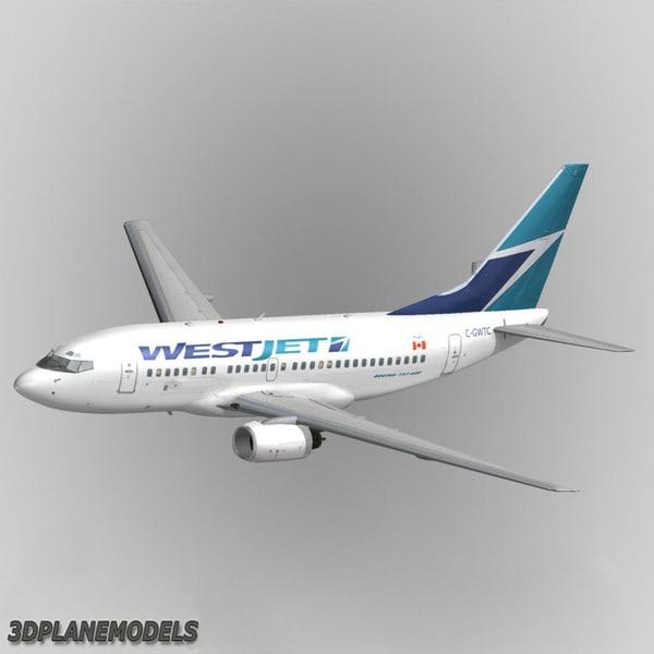 3d b737-600 westjet