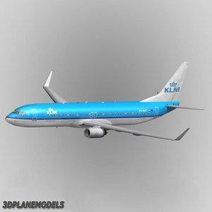 3ds b737-900 klm aircraft 737