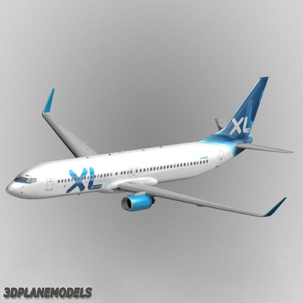 3d b737-900 xl airways 737 model