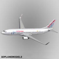 3d model of b737-800 air aircraft 737