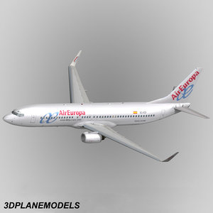 3d model of b737-800 air aircraft 737