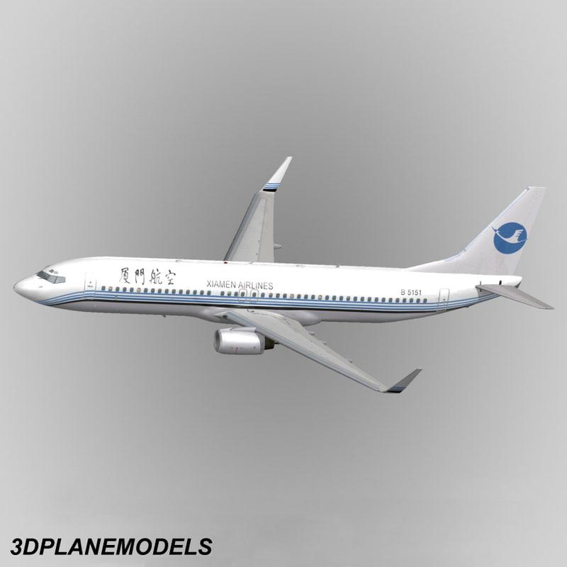 3d b737-800 xiamen airlines 737 model