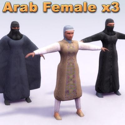 3d arab female model