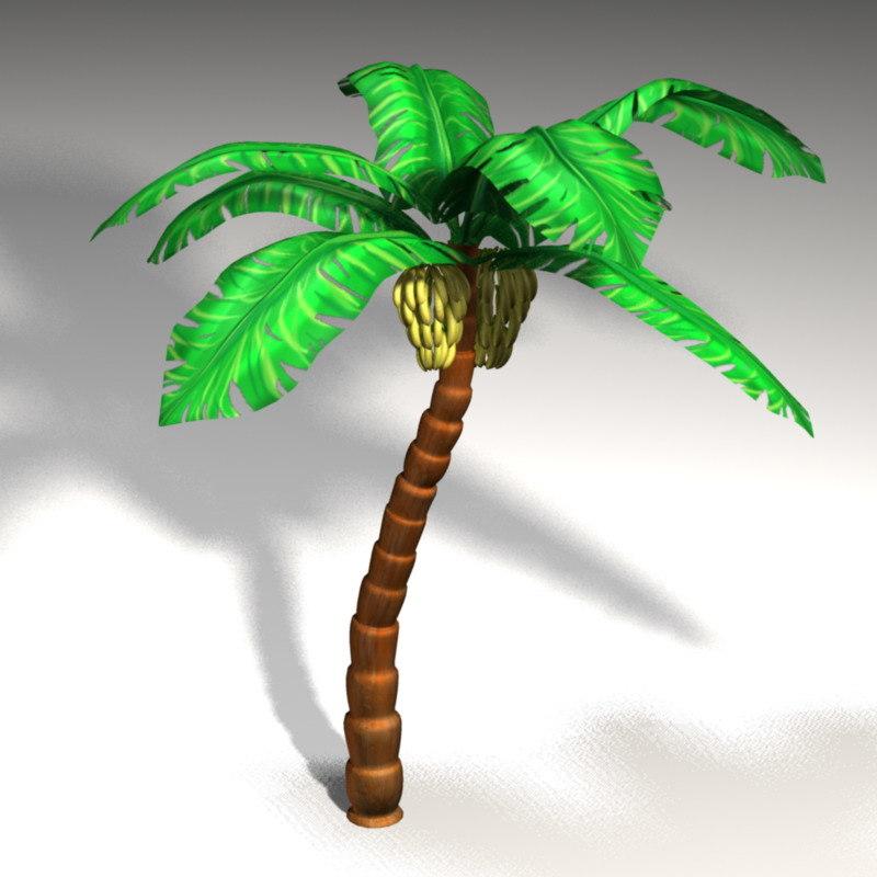 3d model banana tree palm