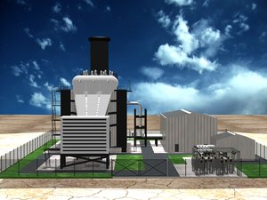 combined cycle gas 3d model