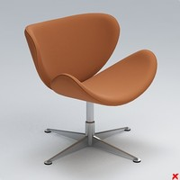 armchair swivel chair 3d model