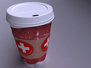 3d max coffee shop hot drink