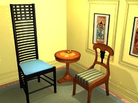 3ds max arts crafts chair charles