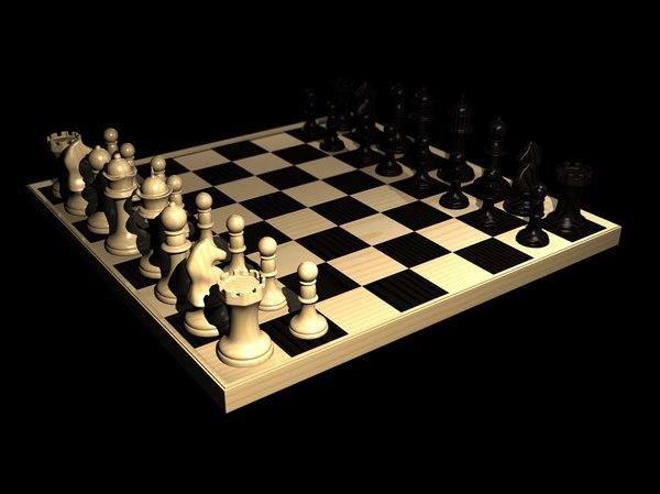 3d model chess set board