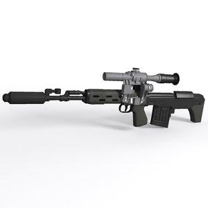 3ds max dragunov svu sniper rifle