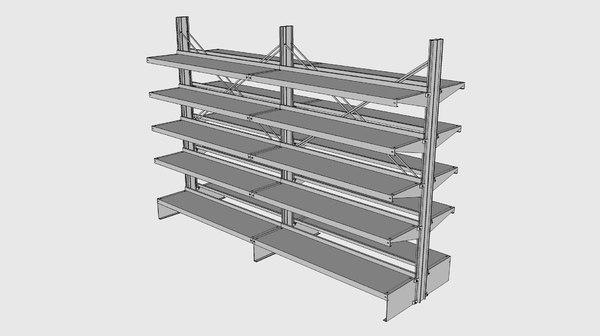 free e-z shelving 3d model