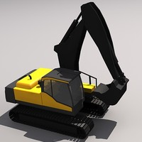 3d ec235c crawler excavator model