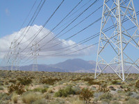 High Tension Electrical Tower