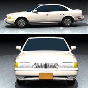 3dsmax exterior infinity q45 automobile