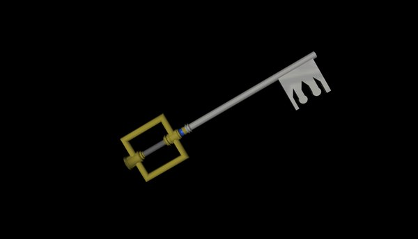 3d model keyblade kingdom hearts