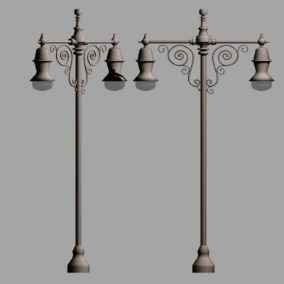 lamp posts street lights 3d 3ds