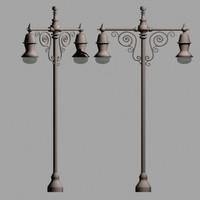 lamp posts street lights 3d 3ds