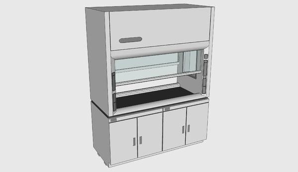3d model labconco protector pass-through laboratory