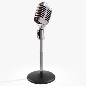 50s microphone 3d c4d