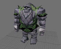 free lwo model warcraft moutain gaint