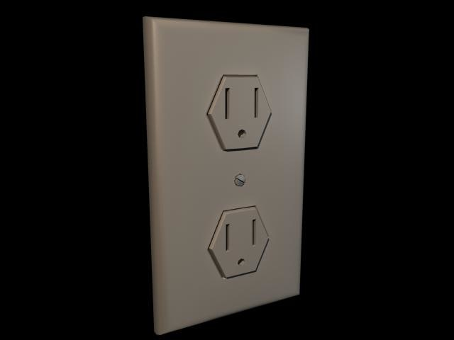 3d model wall outlet