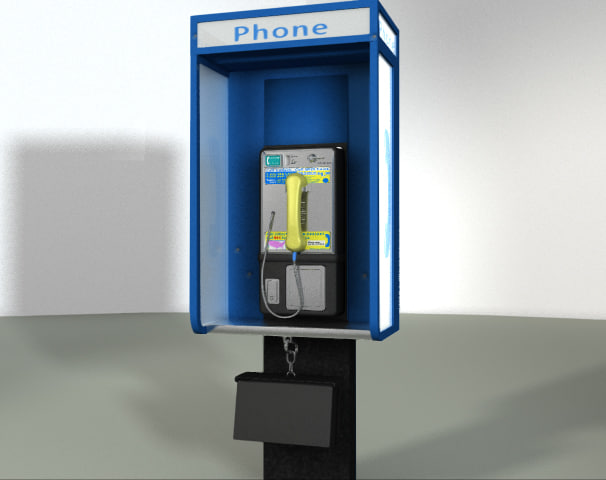 3d model pay phone
