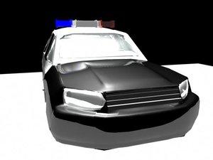 maya police car