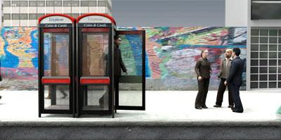 3d axyz business man public phone