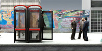 3d axyz business man public phone