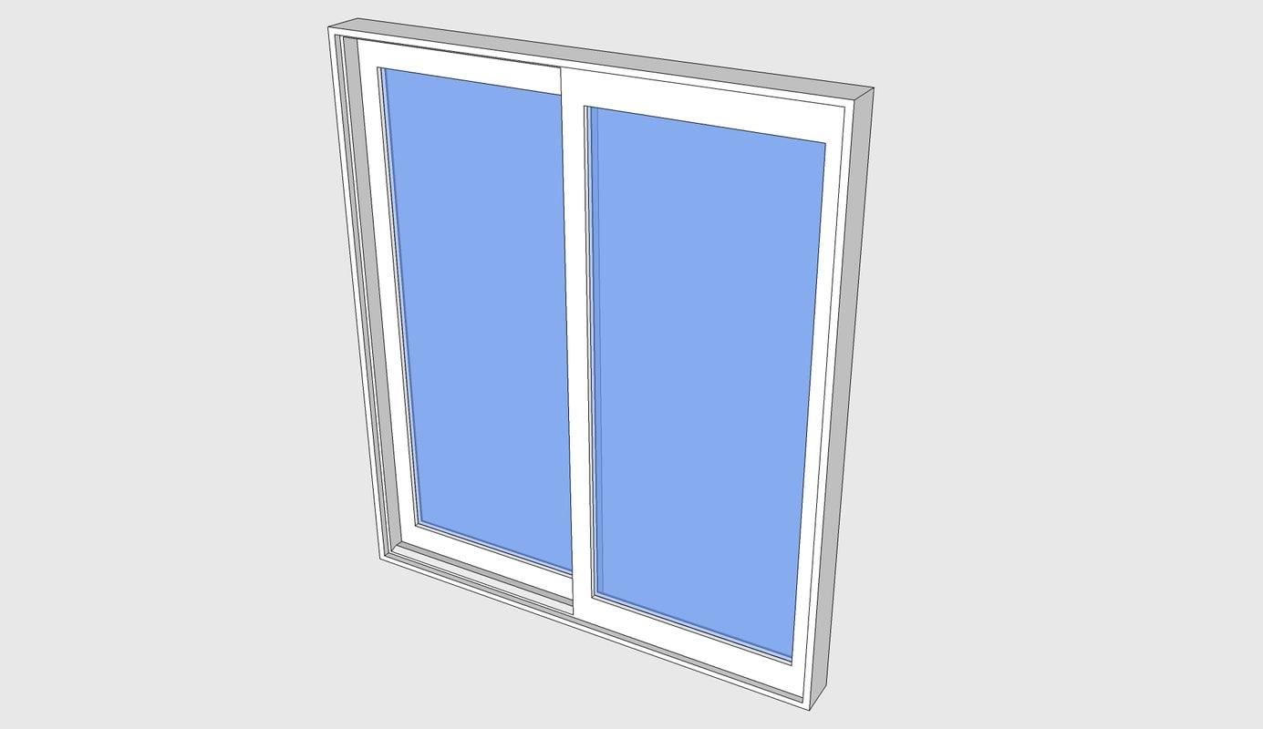 proline contemporary sliding door 3d model