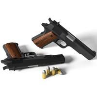 colt m1911 pistol 3d 3ds