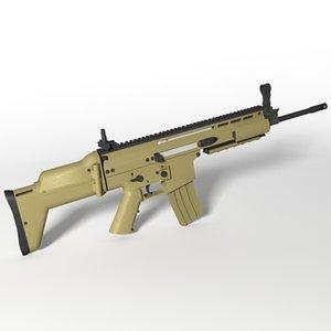 3ds fn scar-l assault rifle