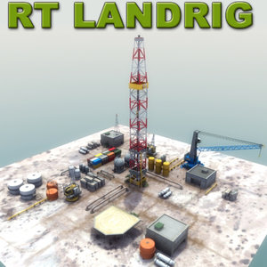 3d model of oil drilling