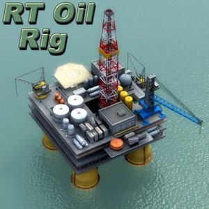 oil platform 3ds