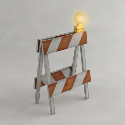 max safety barricade flashing light
