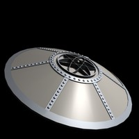 space ships ufo flying saucers 3d model