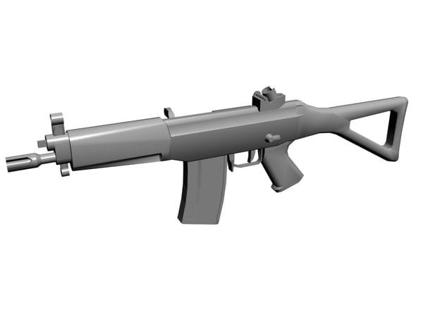 sg 552 rifle 3d model